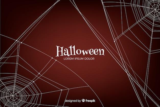 Halloween-achtergrond met spiderweb