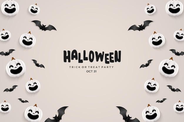Halloween-achtergrond met vliegende vleermuizen