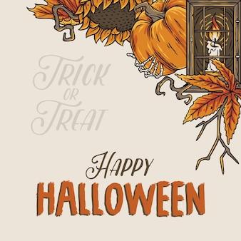 Halloween-achtergrond uit angst voor een donker zombiefeest