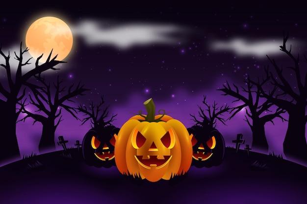 Halloween achtergrondontwerp