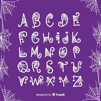 Halloween alfabet concept