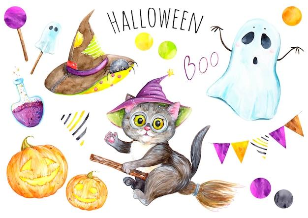 Halloween aquarel instellen