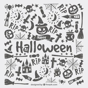Halloween backgorund met moderne stijl