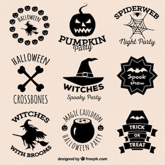 Halloween badges collectie