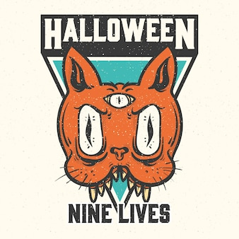 Halloween badges en labels.