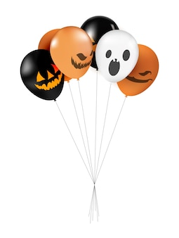 Halloween-ballonnen instellen afbeelding.