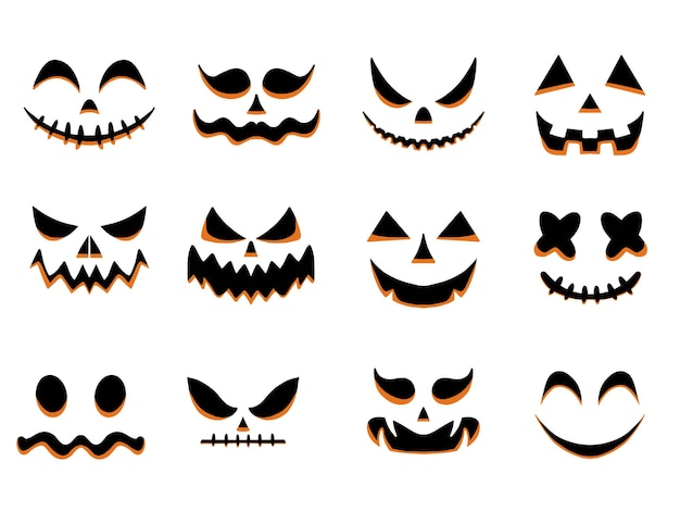 Halloween bang en smileygezichten