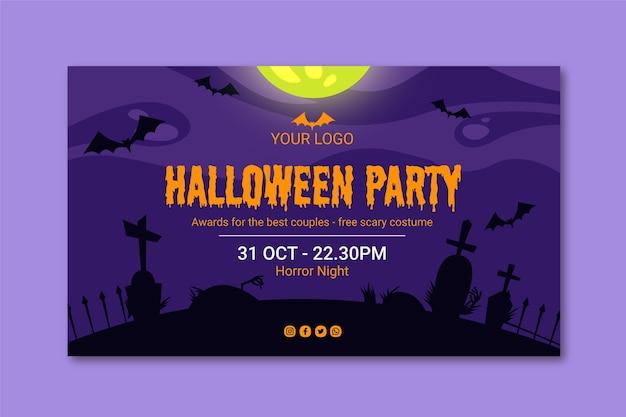 Halloween banner concept