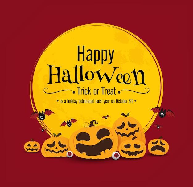 Halloween banner vector ontwerp Premium Vector