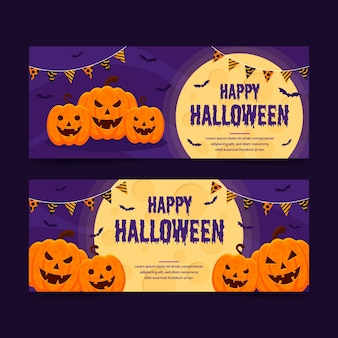 Halloween banners sjabloon thema