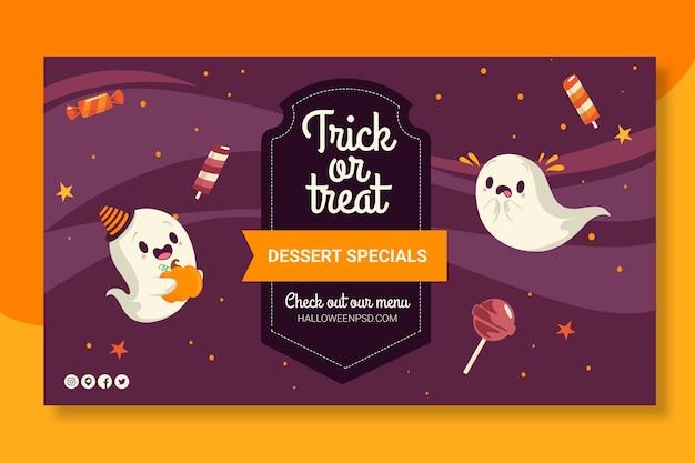 Halloween banners sjabloon