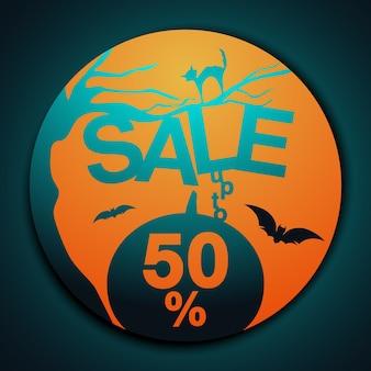 Halloween-bannerverkoop tot 50%