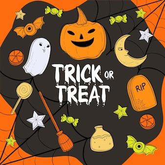 Halloween behang concept