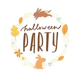 Halloween belettering feest