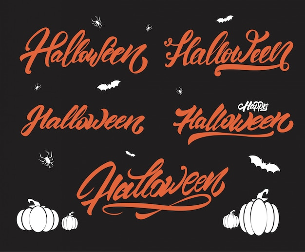 Halloween belettering stijlenset