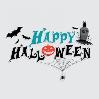 Halloween belettering