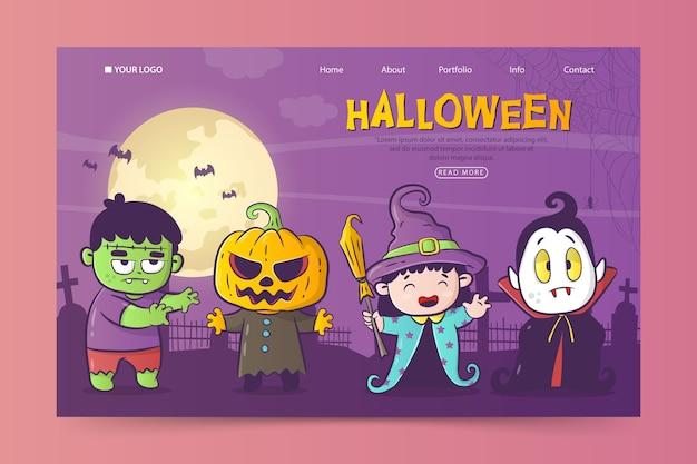 Halloween-bestemmingspagina-sjabloon