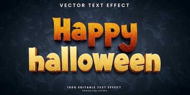 Halloween bewerkbaar teksteffect