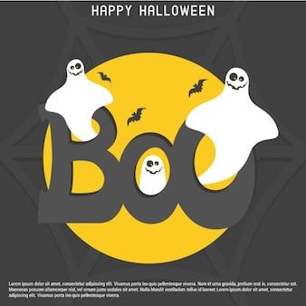Halloween boo card