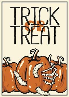 Halloween boze pompoen uit angst halloween print