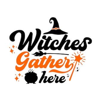 Halloween citaten svg ontwerp belettering
