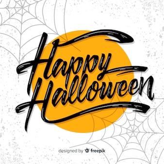 Halloween-concept met belettering achtergrond