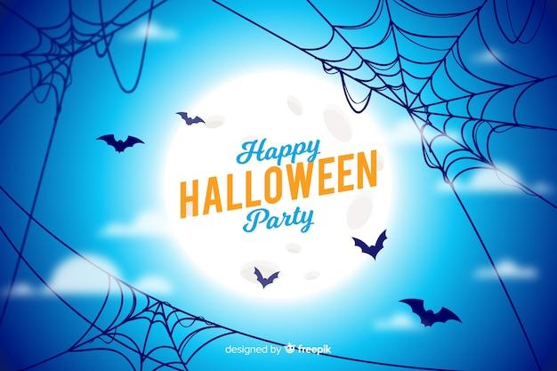 Halloween-concept met realistische achtergrond