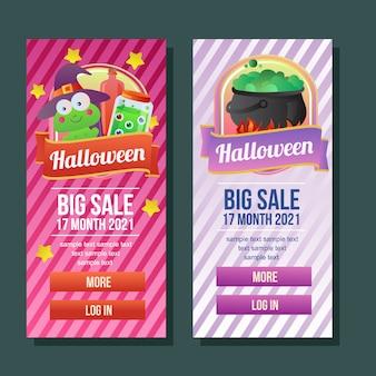 Halloween-de drankjeheks van het banner verticale boek