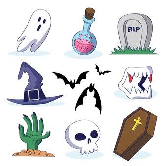 Halloween-element ingesteld