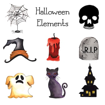 Halloween elementen collectie
