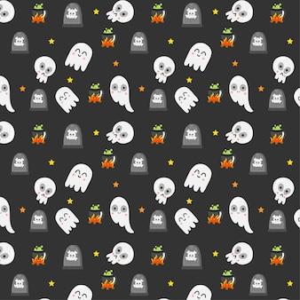 Halloween elementen patroon.