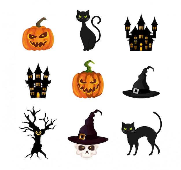 Halloween elementen set