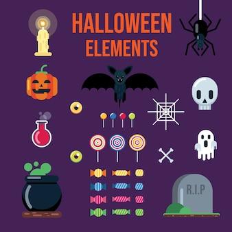 Halloween elementen