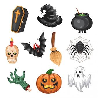 Halloween elementenverzameling