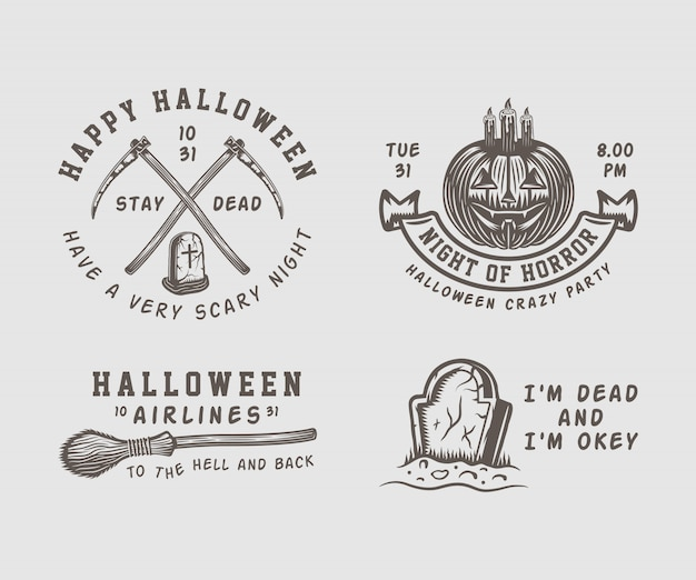 Halloween-emblemen