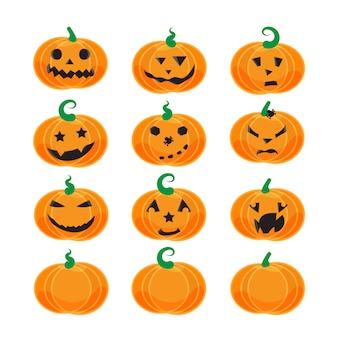 Halloween emotionele pompoenen instellen