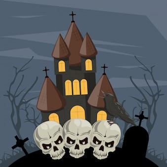 Halloween enge tekenfilms