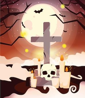 Halloween ernstige cartoon