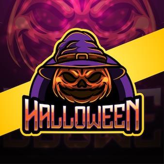Halloween esport mascotte logo ontwerp