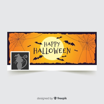 Halloween facebook voorbladsjabloon