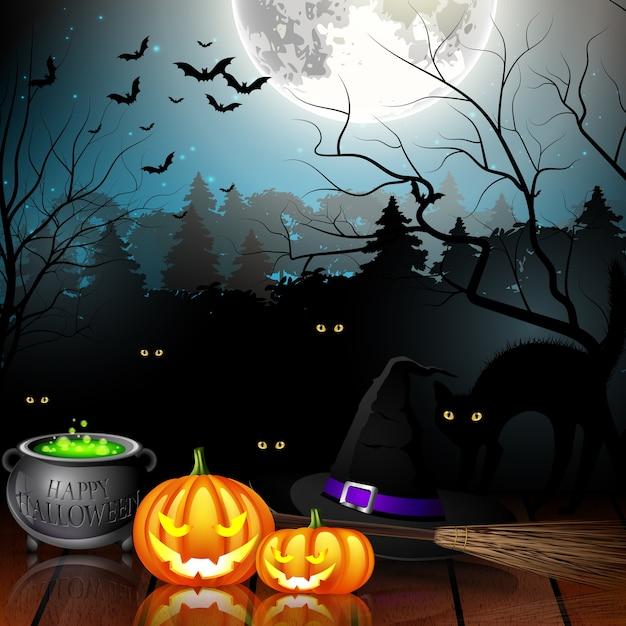 Halloween-feest achtergrond