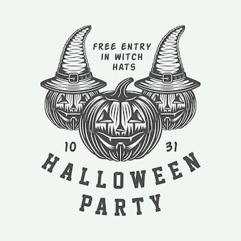 Halloween feest embleem