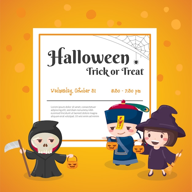 Halloween-feest evenement poster
