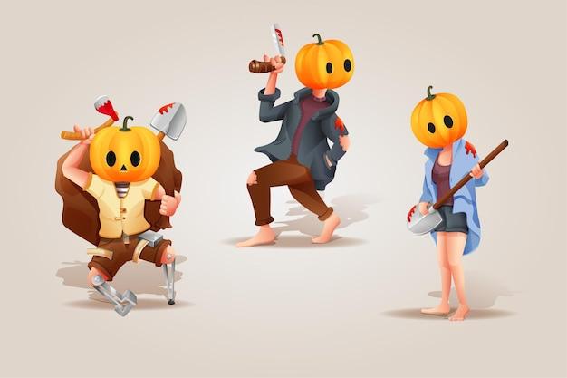 Halloween-feest karakterset