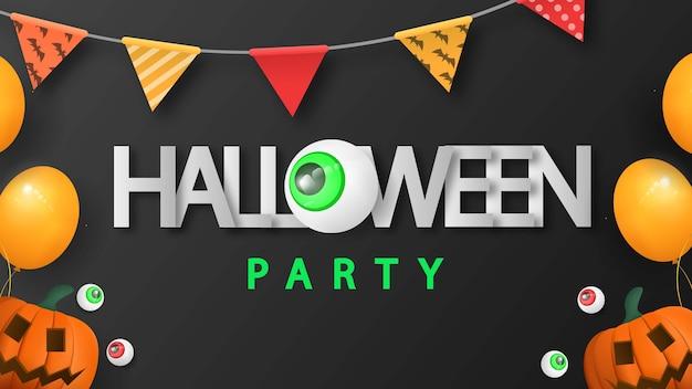 Halloween-feest met 3d-vector