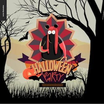 Halloween-feest samengesteld teken