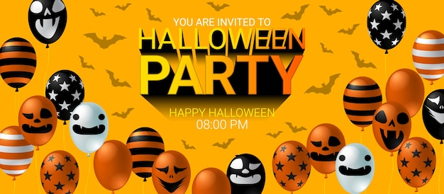 Halloween-feest uitnodiging banner