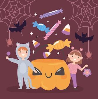 Halloween feest voor kinderen en snoepjes
