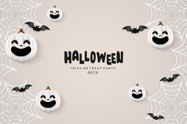 Halloween-feestachtergrond met zwarte letters