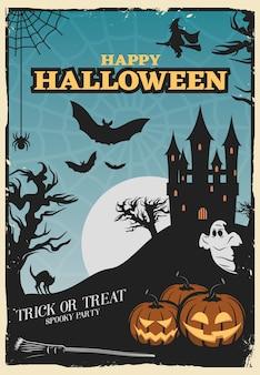 Halloween-feestaffiche